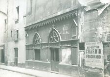 Cliché du vieux Paris 6eme rue Mabillon 1900