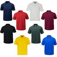 Mens Polo Shirt Classic Plain Short Sleeve T Shirt Summer Casual Sports Leisure