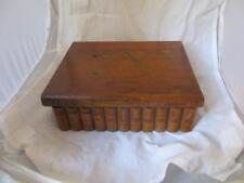 Wooden Book Sewing Box Antique Edwardian C1910. MTV02391