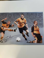 Steve Bull Bully Wolverhampton Wanderers Wolves Legend signed photo AFTAL COA