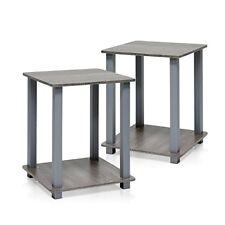 Furinno 12127gyw GY Simplistic End Table French Oak Grey Set of 2 766008165003