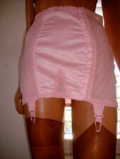 Vintage 1960s Pink Stretch Nylon & Taffeta Side Fastened Corset Girdle 32