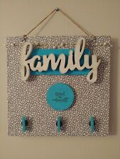 Farm House Magnet Board with Fabric Cover and Fairy Lights :12x12