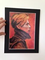 "David Bowie original Art painted Low image 14"" x 11"" A4 Mounted Print"