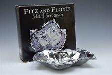 Fitz and Floyd Metalware Metal Snack Tray Serveware Leaf New in Box