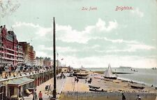 Brighton Sussex Uk Sea Front~London View Company #16 Published Postcard 1905