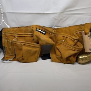 Husky Belt/ Pouch  suede Leather Tool 12 Loopholes, 12 Pockets