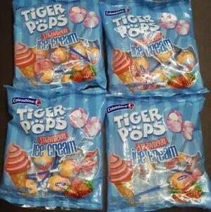 Strawberry ice cream, lollipops, 4 packs,,new