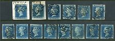 """RR 1841 2d blue- group LONDON NUMBERS IN CROSS missing only no. """"10"""" Cat £11,750"""