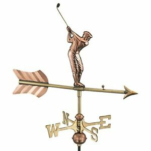 Good Directions 816PG Golfer Garden Weathervane Polished Copper with Garden Pole