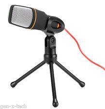 Studio Stereo Condenser Microphone: 3.5mm Jack Noise Cancellation: Karaoke Skype