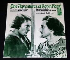 LP Delos Film Buff ADVENTURES ROBIN HOOD Cavalier Flynn Erich Rathbone MINT VG+