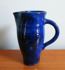 Sara Petker Pitcher Blue Hand Thrown Studio Pottery Signed Canada