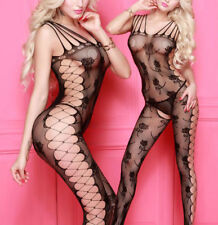woman BODYSTOCKING Crotchless BODYSUIT Sexy Lingerie Underwear Jumpsuit Catsuit