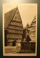 Alte Foto-AK/Ansichtskarte/PK/ca. 1913:Hildesheim:Kunstgewerbehaus Rolandbrunnen