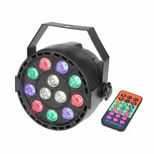 Disco Party Lights 12 Led Stage Stand DJ Lighting Remote Control RGBW DMX