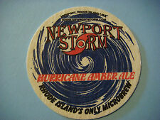 Beer Bar Coaster ~^~ NEWPORT STORM Brewing Co Hurricane Amber Ale ~ RHODE ISLAND