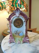 Antique German/Swiss Porcelain Clock: Running