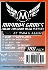 Mayday Games Police Precinct Ultra fit Card Sleeves (63.5 mm X 92mm) (100) 7128