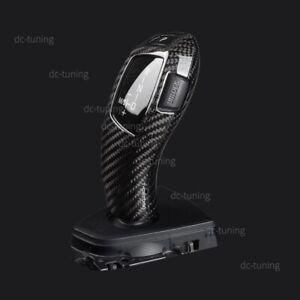 Black Carbon Fiber Gear Shift Full Cover Trim For BMW F20 F22 F30 F32 F10 X5 etc