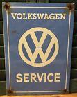 VINTAGE VOLKSWAGEN SERVICE VW PORCELAIN BUG SIGN DEALERSHIP DEALER