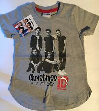 Girls Grey T Shirt with 1D One Direction Xmas detail