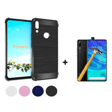 Cover Case TPU Silicone Fiber Carbon Huawei P Smart Z+ P.Glass Tempered