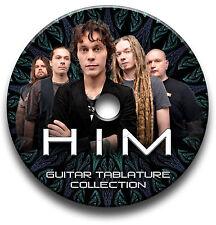 HIM ROCK GUITAR TAB TABLATURE SONG BOOK SOFTWARE CD