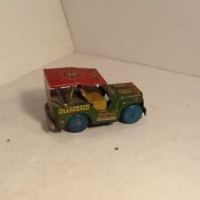 Vintage Japanese Tin Toy Jeep Great Tin Lithographics