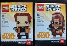 Lego Brick Headz SOLO: A STAR WARS MOVIE Han Solo 41608 Chewbacca 41609 NEW