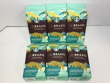 Starbucks Medium Roast Whole Bean Coffee, Brazil, 9oz, 6 Count, 07/2020