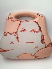 Rare Vintage Chanel Pink Hard Case Coco Print Hip Bag