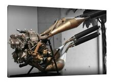 Honda NSR500 Engine - 30x20 Inch Canvas Art Framed Picture Print HRC 2-stroke
