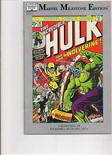 Incredible Hulk #181 Marvel Milestones Comic Book. Wolverine!