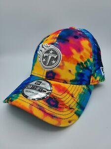 Tennessee Titans Hat New Era 39Thirty Crucial Catch Tie Dye Flex Fit Cap M/L