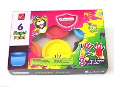 Washable Finger Painting Set 6 Colors Master Arts Hand Paint