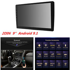 """2DIN 9"""" Android 9.1 Car Stereo Radio WiFi Bluetooth GPS 4-Core MP5 Player 2+32G"""