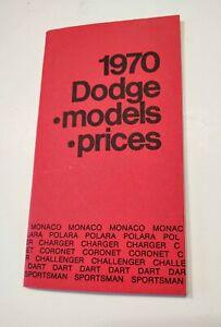 Mopar 1970 Dodge Charger Challenger Swinger Dealer Factory Codes Options Prices