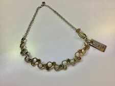 "NWT Uno de 50 Silver-plated Bar with Green Swarovski Elements Necklace ""No Honey"