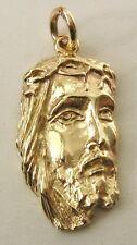 LARGE  GENUINE  9K  9ct  SOLID  GOLD  JESUS HEAD  Pendant