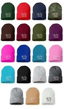 LAKE HAIR DON'T CARE Embroidered Cap Hip Hop Beanie Cuffed  - Multiple Colors