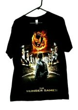 The Hunger Games Mens Black Large T-Shirt Graphic Tee