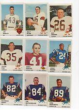 1961 FLEER FOOTBALL CARDS-33 DIFFERENT BLANK BACK ERRORS-MANY STARS!