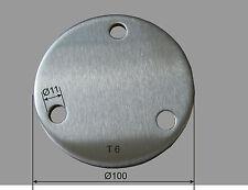 acciaio inox Ronde Ø 100X6 mm V2A perforato PIASTRA Spazii Bianco