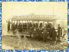 Integrated Trolley Full Of African American Business Men & Buffalo Soldier Photo