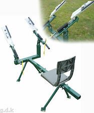 DEMO, DOUBLE ARM MANUAL SEATED CLAY PIGEON TRAP, TARGET THROWER, RABBIT, DT500
