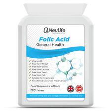 Folic Acid - 400mcg - 120 Tablets