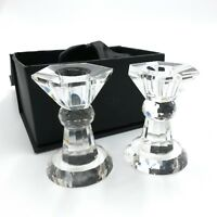 Crystal Candle Holders Vintage Novel Collection Pair With Original Box