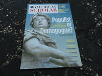 SPRING 2018 AMERICAN SCHOLAR magazine TRUMP - MAGA - DEMAGOGUE