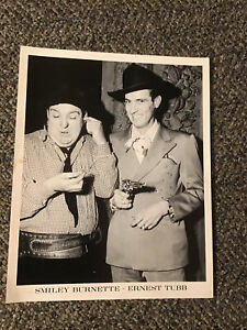 Ernest Tubb Smiley Burnette 1940s 1950s Promo Photo Country Music Opry WSM